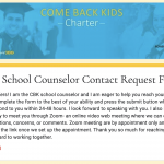 CBK School Counselor Contact Request Form