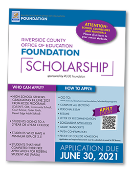 RCOE Foundation Scholarship Flyer thumbnail